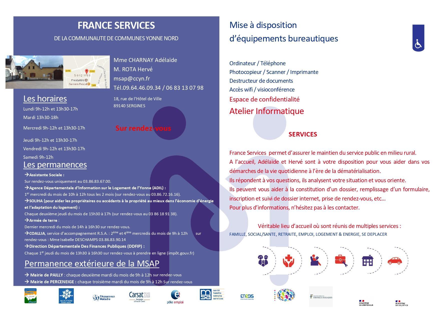 Affiche Permanences du SIP