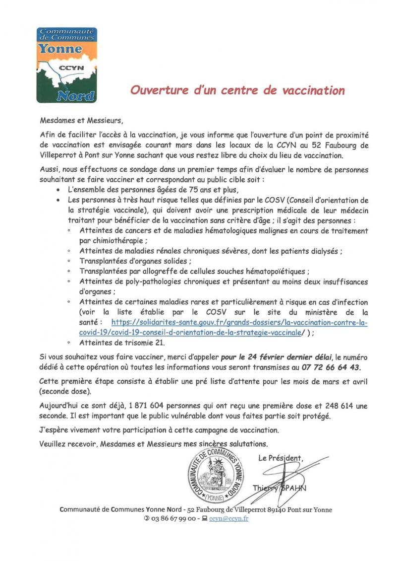 Ouverture centre vaccination ccyn page 0001