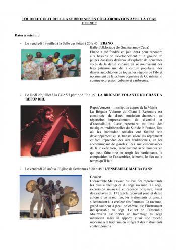 Tournee culturelle ccas 2019